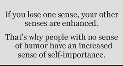 If you lose one sense, your other 