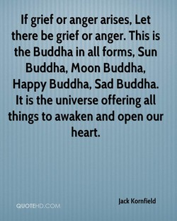 If grief or anger arises, Let 