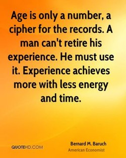 Age is only a number, a 
