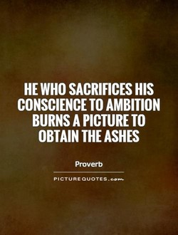 HE WHO SACRIFICES HIS 