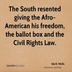 The South resented 