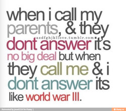 when i call m