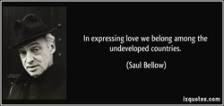 In expressing love we belong among the 