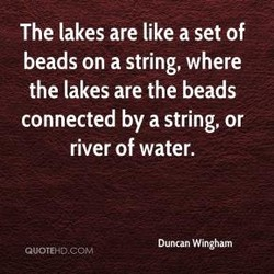The lakes are like a set of 