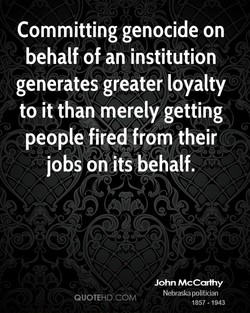 Committing genocide on 
