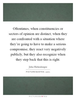 Oftentimes, when constituencies or 