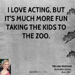 I LOVE ACTING, BUT 