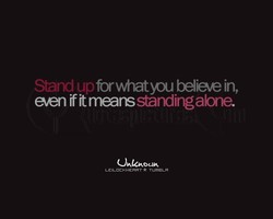 Stand n frwhatyou believe in, 