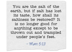 You are the salt of the 