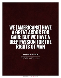 WE [AMERICANS] HAVE 