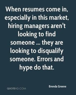 When resumes come in, 