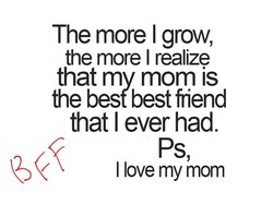 The more I grow, 