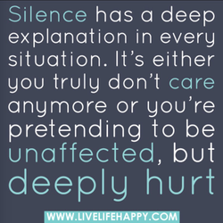 Silence has a deep 