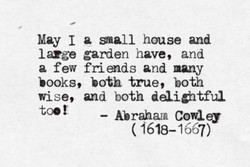 May I a small house and 