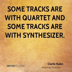 SOME TRACKS ARE 