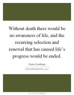 Without death there would be 
