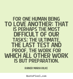 FOR ONE HUMAN BEING 