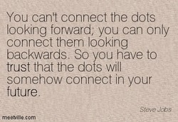 You can't connect the dots 