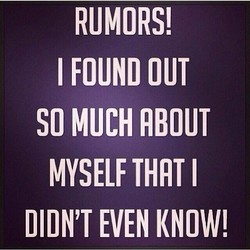 RUMORS! 