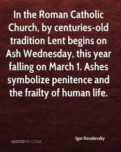 In the Roman Catholic 