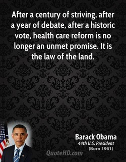 After a century of striving, after 