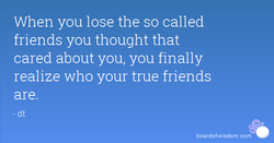 When you lose the so called 