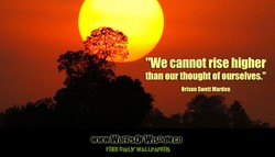 'We cannot rise higher 