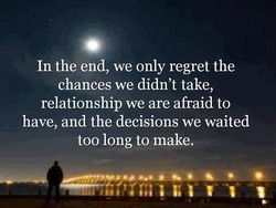 In the end, we only regret the 