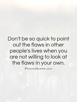 Don't be so quick to point 
