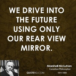 WE DRIVE INTO 
