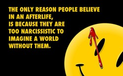 THE ONLY REASON PEOPLE BELIEVE 