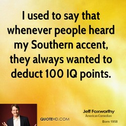 I used to say that 
