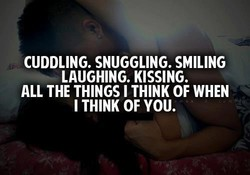 CUDDLING. SNUGGLING. SMILING 