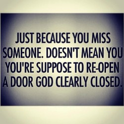 JUST BECAUSE YOU MISS 