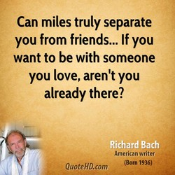 Can miles truly separate 