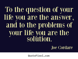 To the question of your 