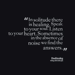In solitude there 