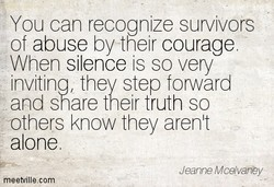 You can recognize survivors 