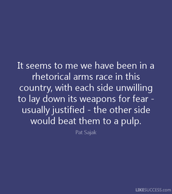 It seems to me we have been in a 