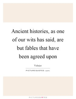Ancient histories, as one 
