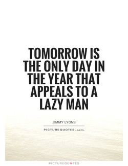 TOMORROW IS 
