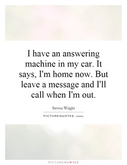 I have an answering 