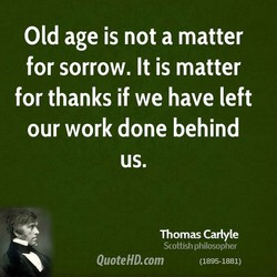 Old age is not a matter 
