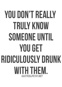 YOU DON'T REALLY 