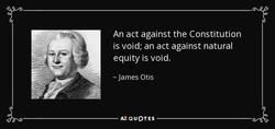 An act against the Constitution 