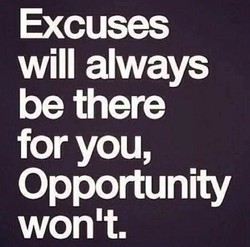 Excuses 