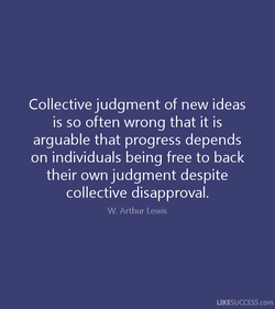 Collective judgment of new ideas