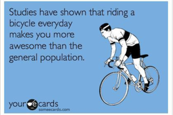 Studies have shown that riding a 