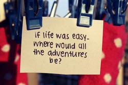 life was easy- 