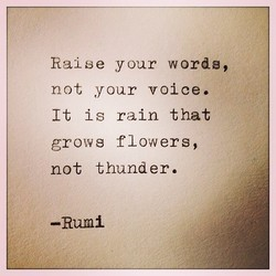 Raise your words, 